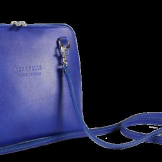 Malá kožená kabelka před rameno Grana Azzura Scura