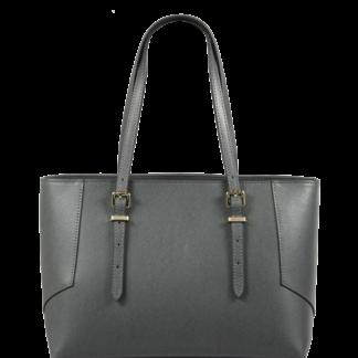 Italská kožená kabelka přes rameno Linda Grigia