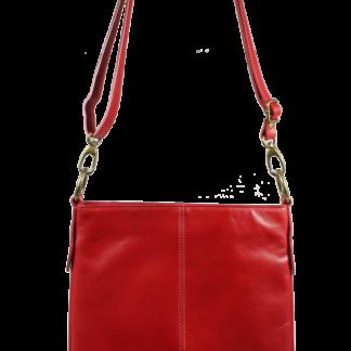Červená kožená kabelka přes rameno Sefora Rossa