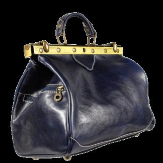 Klasická kožená kabelka Regina Blu