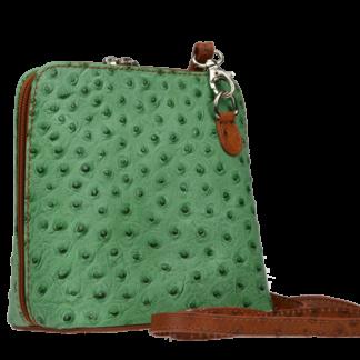 Grana Verde Chiaro Camel Struzza