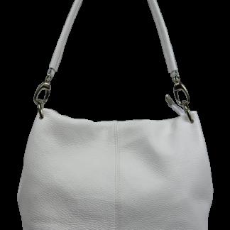 Bílá kožená kabelka Fiora Bianca