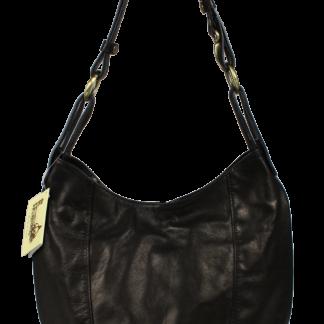 Černá kožená kabelka Lagia Nera