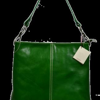 Italská kožená kabelka Ginevra Verde