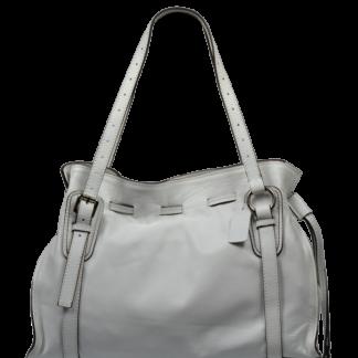 Bílá kožená kabelka Maria Bianca Cafe