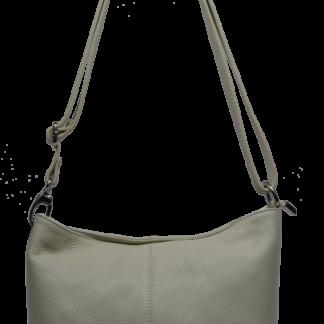 Kožená kabelka přes rameno Batilda Beige
