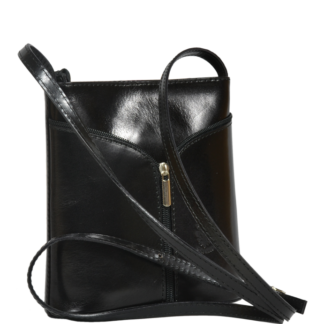 Černá kožená kabelka Lea Nera