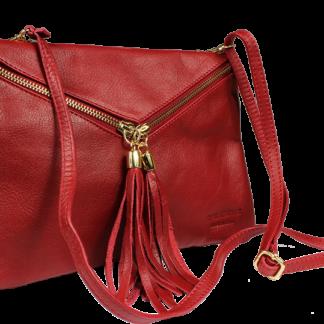 Malá kožené kabelka Maida Rossa Taschino