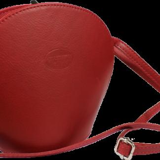 Malá červená kabelka přes rameno Pelletteria Rossa Scura