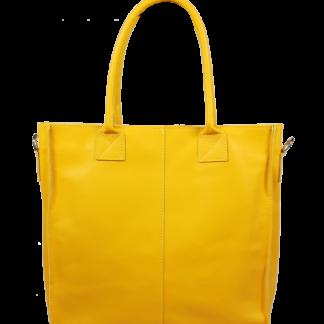 Italská kožená kabelka Fausta Gialla