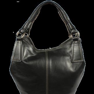 Italská kožená kabelka Orietta Nera