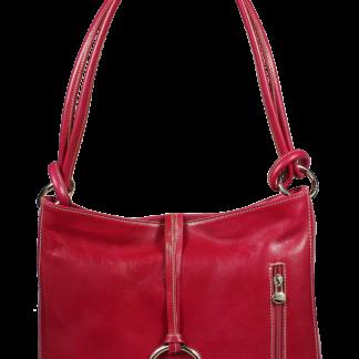 Italská kožená kabelka Veroncia Fuxia Argento