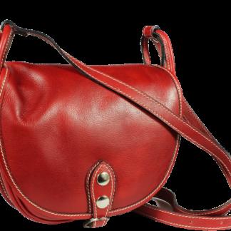 Červená kabelka z Itálie Caccia Rossa Piccola
